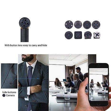 Coorun Mini cámara de Seguridad Oculta WiFi Sync cámara puqing