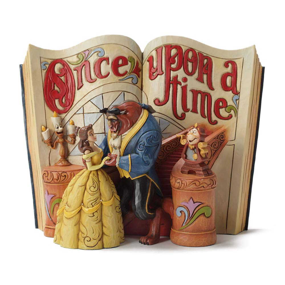 "Disney Traditions by Jim Shore /""Beauty and the Beast/"" Storybook Stone Resin Figurine 6/"" Enesco Gift 4031483"