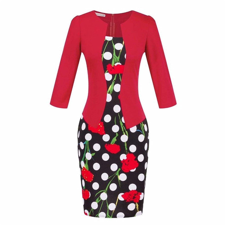 Summer Two-Piece Big Size European Style Elegant Pencil Dresses 05 (XXXL)