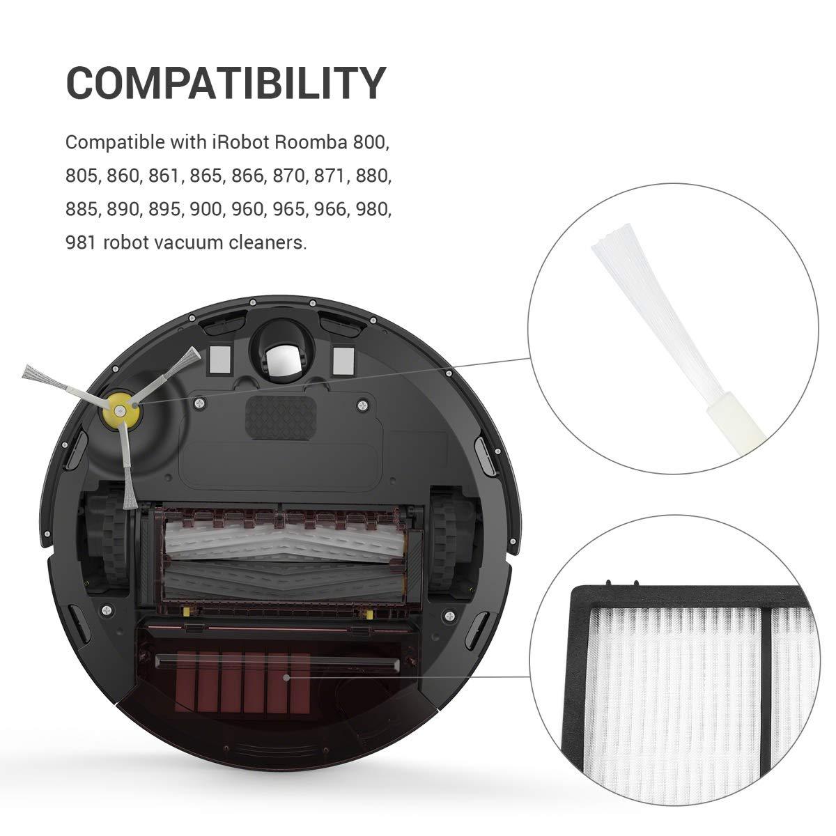 Serie 800//900 Accesorios y recambios de escobilla Lateral para Robot Aspirador Roomba kwmobile Set de 3 cepillos Laterales de Repuesto para Roomba