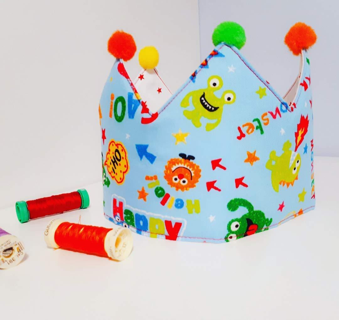 Corona cumpleaños - aniversario tela bebe monstruos infantil ...