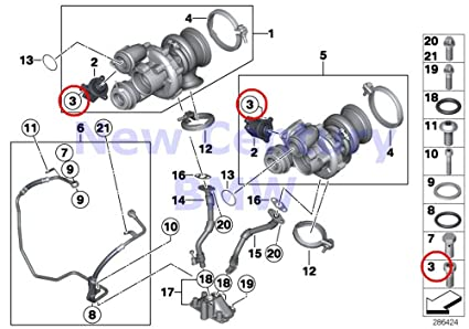 BMW Genuine Exhaust Manifold Front Axle Fillister-Head Screw M6X16-8.8-Zns3 X5