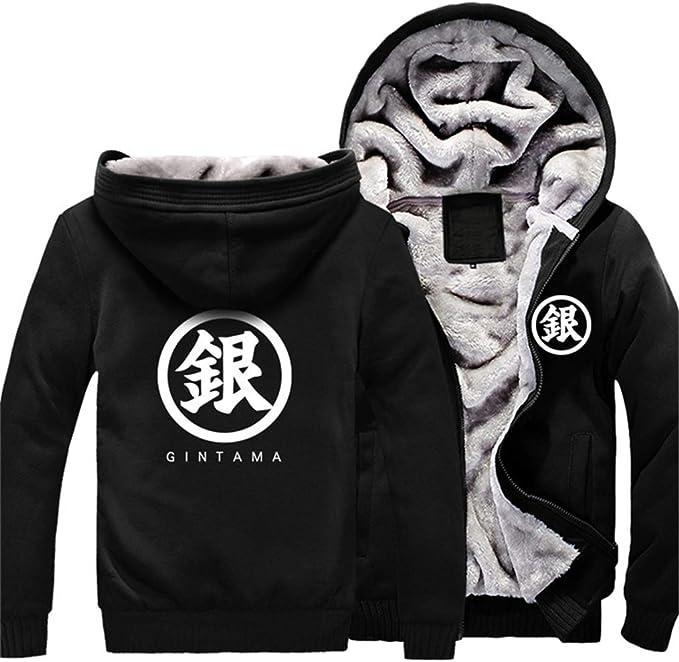 Gumstyle Naruto Anime Unisex Full-Zip Hoodie Coat Winter Thicken Fleece Warm