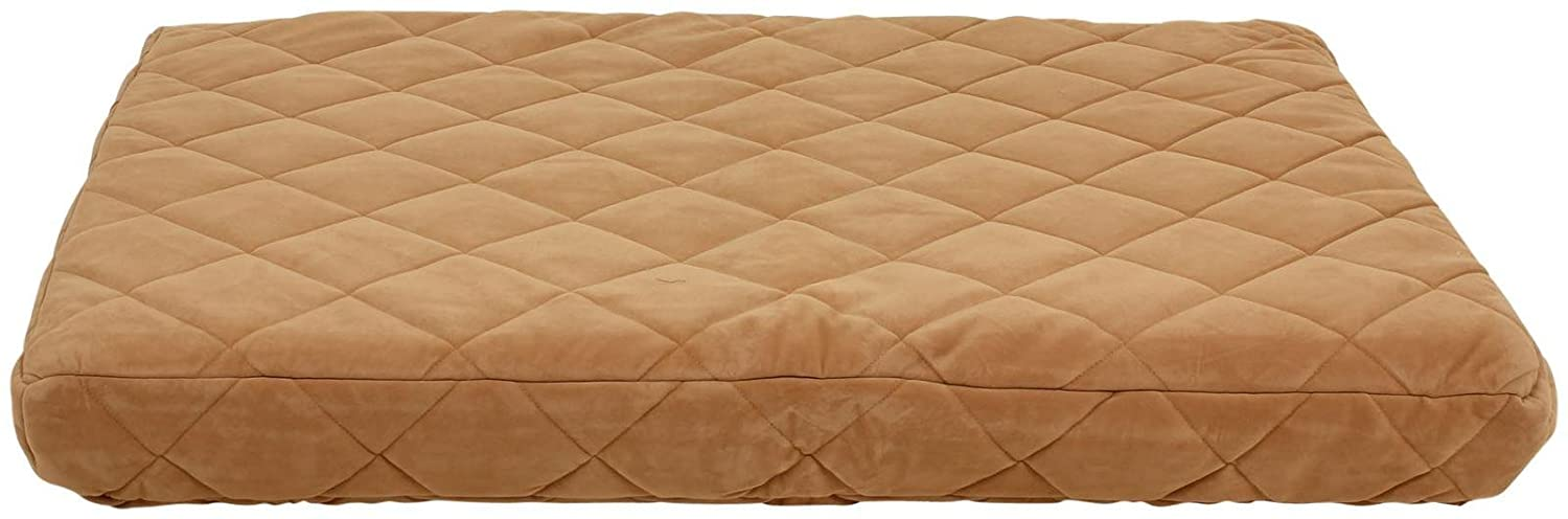 Everest Pet Quilted Orthopedic Dog Bed with Protector Pad in Chocolate