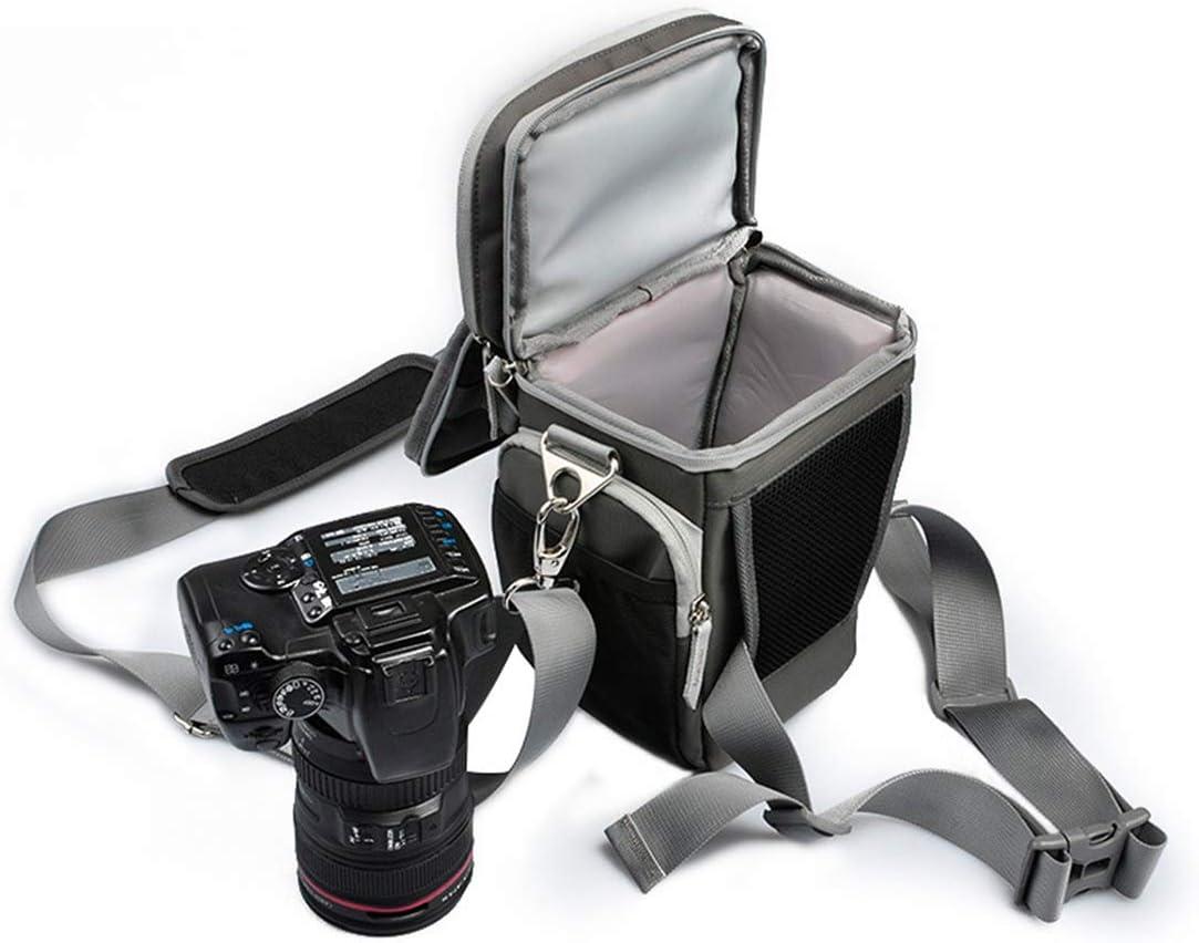 Color : Gray with Green AIYAMAYA One Shoulder Messenger Comfort Triangle Camera Bag SLR Camera Bag Shoulder Camera Bag