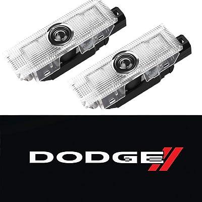 CHANONE LED Car Door Logo Dodge Challenger Projector Ghost Shadow Courtesy Light Welcome Light for Dodge Challenger Scat Pack RT SRT SXT GT SE (2 Pack): Automotive