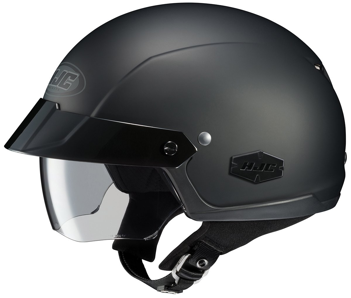 best motorcycle helmets, HJC IS-Cruiser Motorcycle Half-Helmet (Matte Black, X-Large)