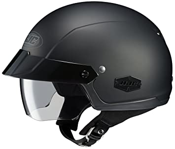 HJC IS-Cruiser Motorcycle Half-Helmet (Matte Black, Small)