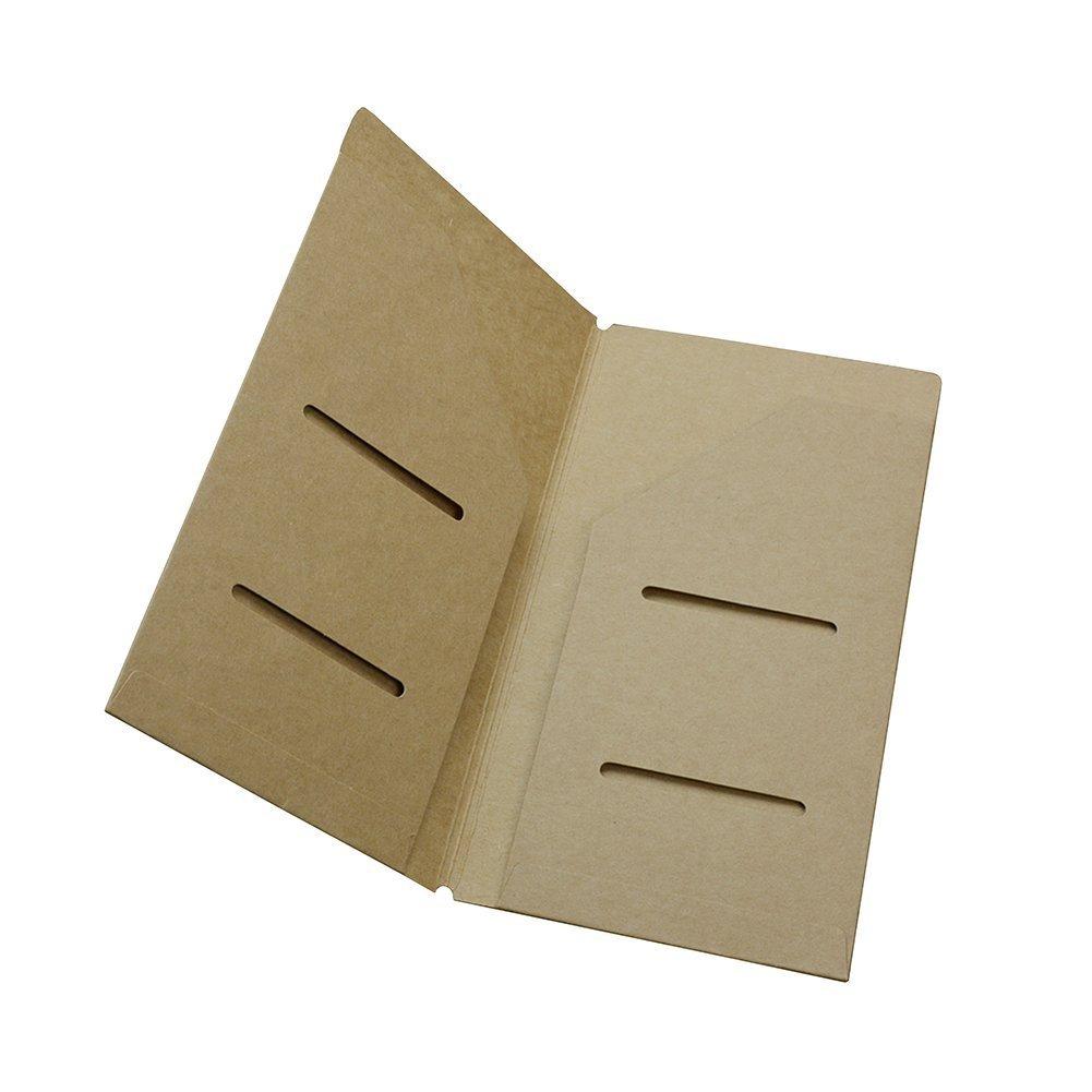 Gossipboy, copertura protettiva interna di ricambio in carta kraft, per diario di viaggio, bloc-notes, per riporre biglietti e note, 190*127mm/7.48*5 190*127mm/7.48*5 generic UKPPLBDH5074