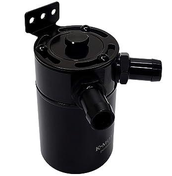 k-motor Universal Billet Aluminio Deflector de aceite Catch Can tanque separador de aceite de