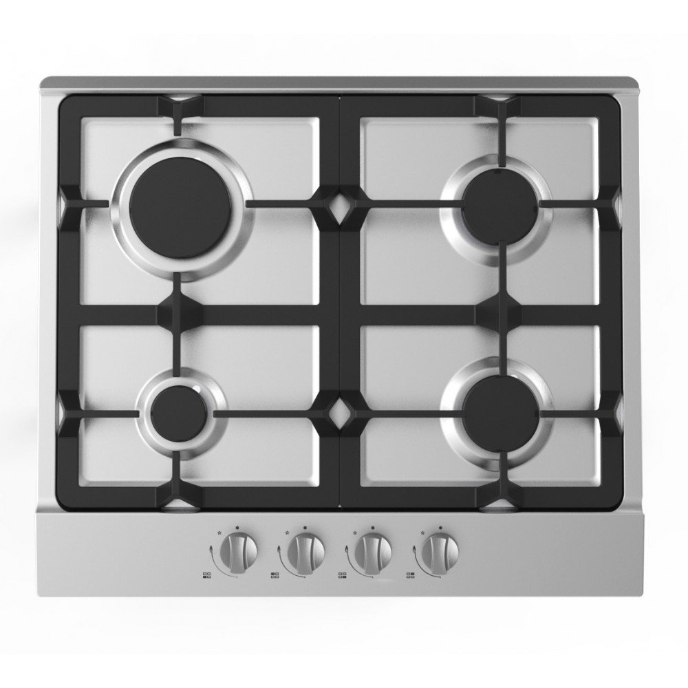 Cookology Gas Hob GH605SS | 60cm, Built-in, Stainless Steel & Cast Iron Pan Supports Cookology GH605SS