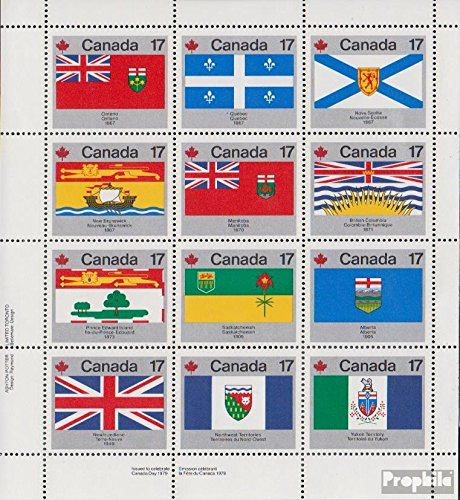 Canada 731-742 Sheetlet (Complete.Issue.) 1979 Flags Canadian. Provinces (Stamps for Collectors)