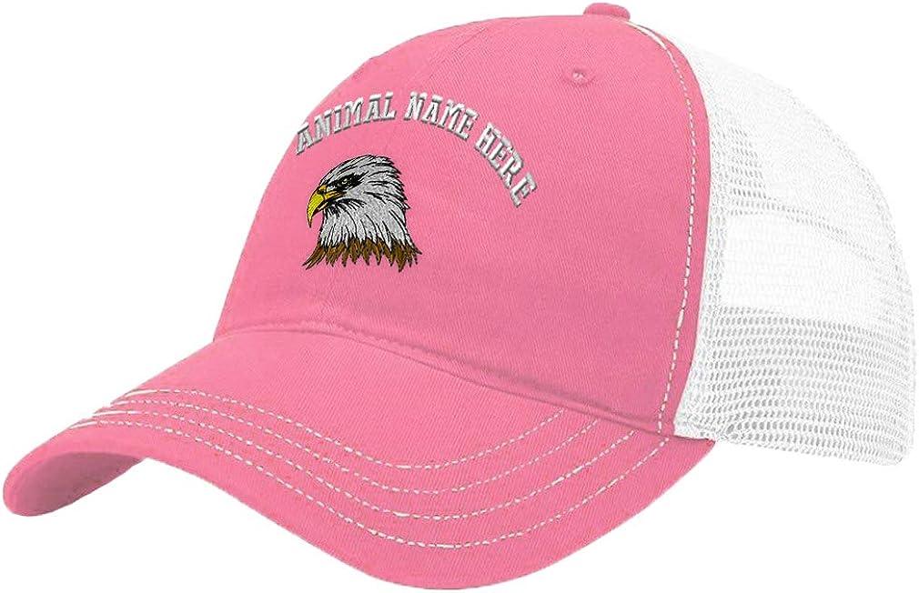 Custom Trucker Hat Richardson Bald Eagle Head Embroidery Animal Name Cotton
