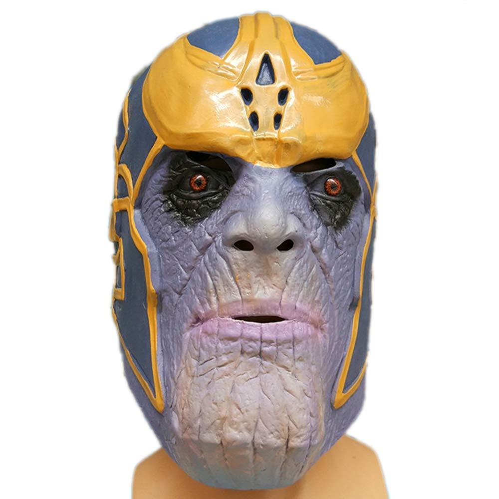 nihiug Sanos Maske,A-OneSize Halloween Latexmaske Cosplay Fighter Maske,A-OneSize Sanos b91a7e