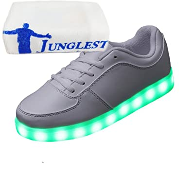 [Present:kleines Handtuch]c39 EU 43, Leuchtende USB Turnschuhe mit LED JUNGLEST® weise Auf