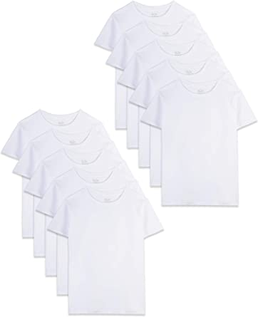 Fruit of the Loom - Camiseta de algodón para niño, color blanco: Amazon.es: Ropa y accesorios