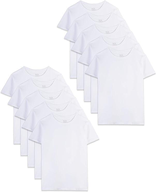Fruit of the Loom Boys' Cotton White T Shirt   Amazon