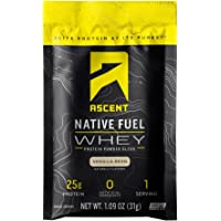 Ascent Native Fuel Whey Protein Powder - Vanilla Bean - 15 Single Serving Packets