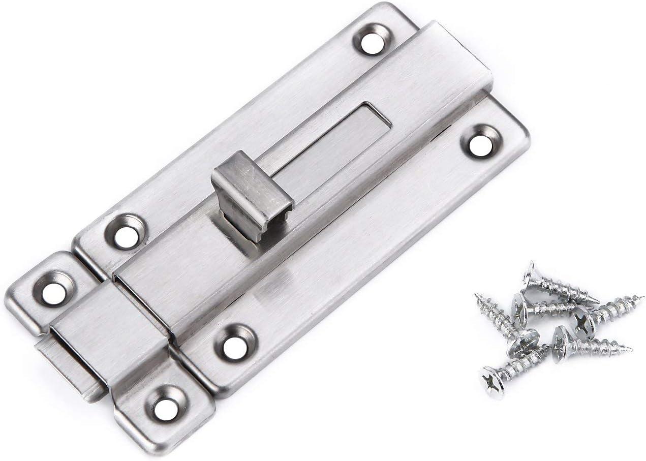 Door Bolt Barrel Sliding Latch Lock for Bathroom Toilet Window Furniture Pet Gate 3 Inch