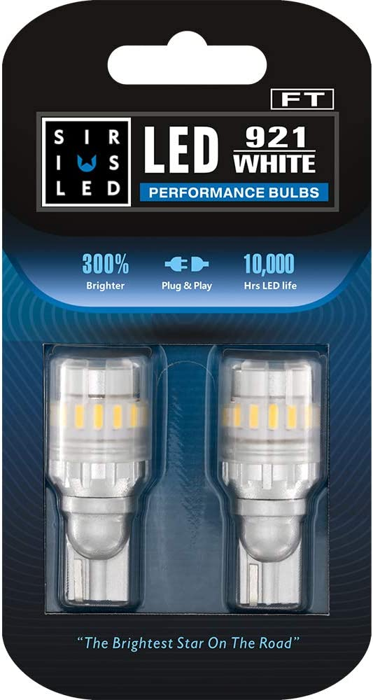 SIRIUSLED - FT- 921 922 579 LED Reverse Backup Trunk Light Bulb for Car Truck Super Bright High Power 3030+4014 SMD White 6500K Pack of 2
