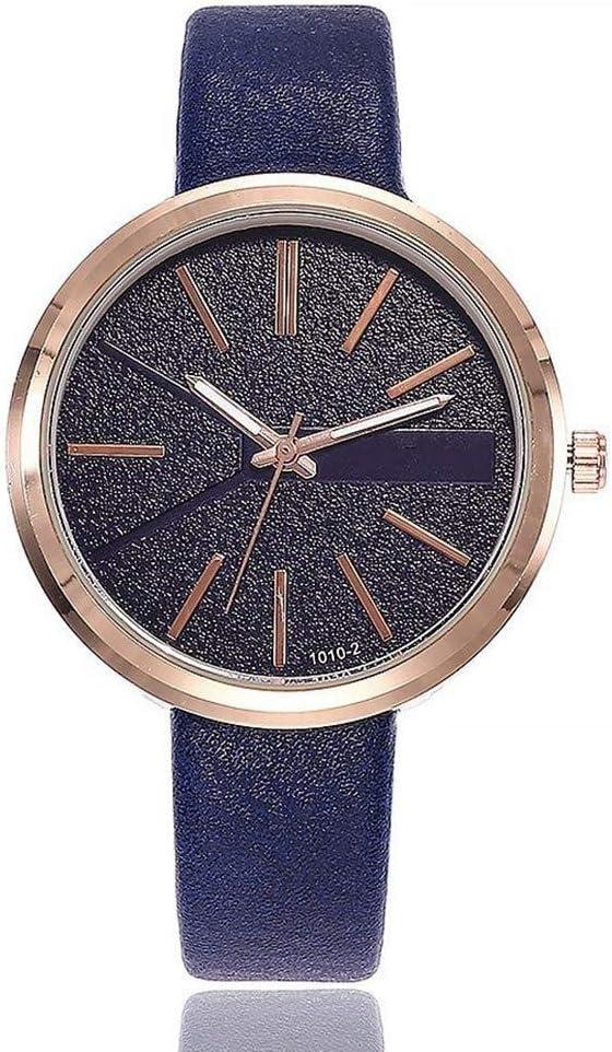 Relojes Reloj Watches Relojes De Pulsera Mujeres Vestido De Diamantes De Imitación Reloj Moda Cuero Mujer S Relojes De Pulsera De Cuarzo-Azul