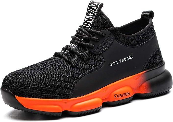 Stahlkappe Arbeitsschuhe Herren Sneakers  Atmungsaktiv Leicht Sicherheitsschuhe