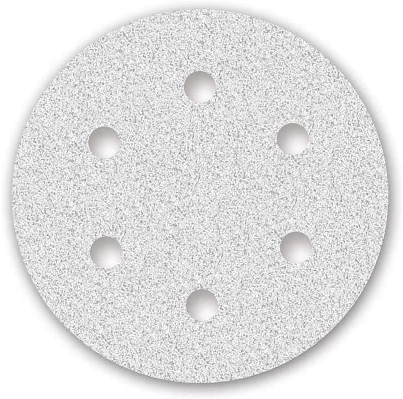grain 180-6 trous 25 Disques abrasifs auto-agrippants MioTools pour ponceuse girafe /Ø 225 mm