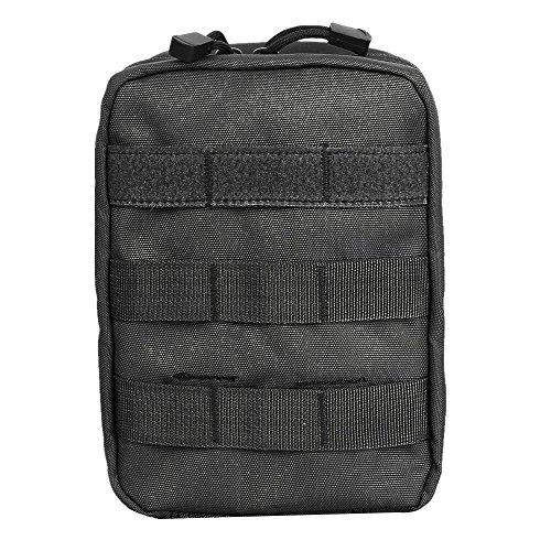 Compact Tactical MOLLE EMT Medical First Aid Utility Pouch Bag (BLACK)