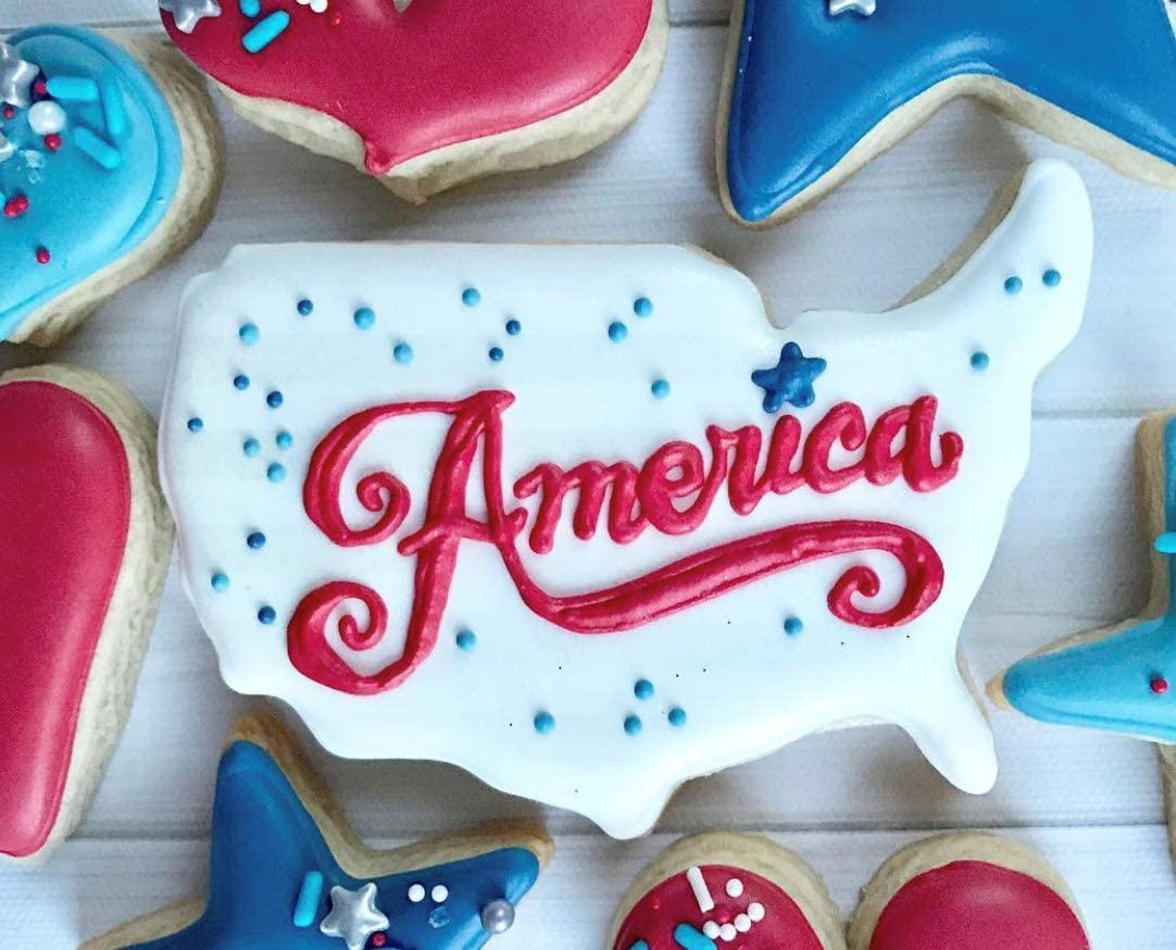Tin Plated USA Patriotic Independence Day Cookie Cutter Set 3 Piece Ann Clark