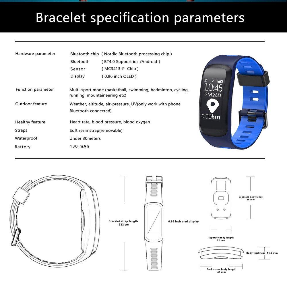XNK Pulsera Inteligente IP68 presión Arterial Monitor de frecuencia ...