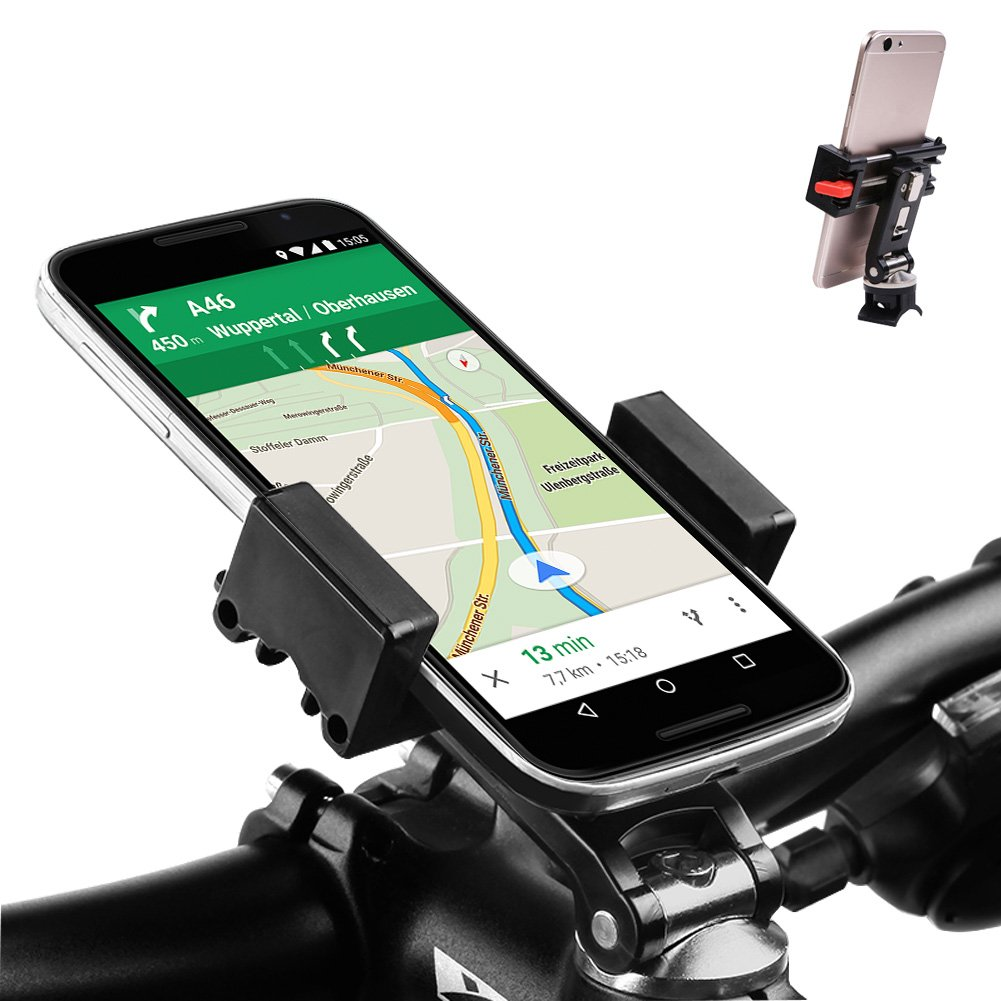 One Button Set Width Bike Phone Mount Bicycle Holder Universal for