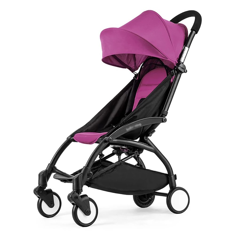 ZB Asiento plegable de cochecito de bebé con almohadilla de algodón extraíble Neonatal 0-36 meses de cochecito de niño con cubierta de lluvia para cochecito de bebé Sombrilla incorporada de seguridad  Purple B07JH96VDD