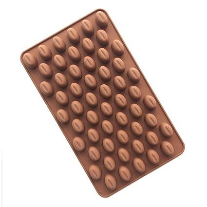 Yoohome Molde para chocolate, de silicona alimentaria, molde antiadherente, flexible, 60