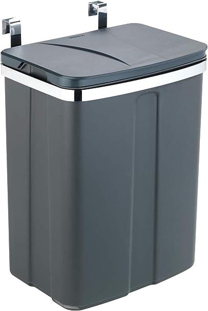 WENKO Tür Abfalleimer, Mülleimer zum Einhängen an Schubladen