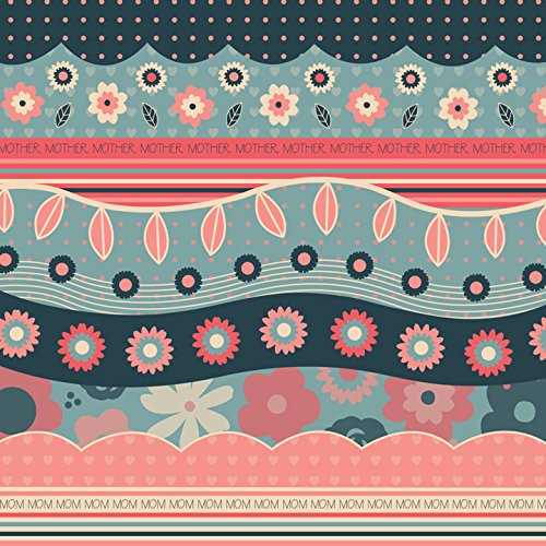 KAREN FOSTER Scrapbooking Paper, 25 Sheets, 12 x 12-Inches, Mom Ribbons