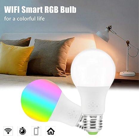 Lampes Led 5 Multicolores 1pièce Réveil Wifi De W Smart 6 Ampoule 2DHIE9W