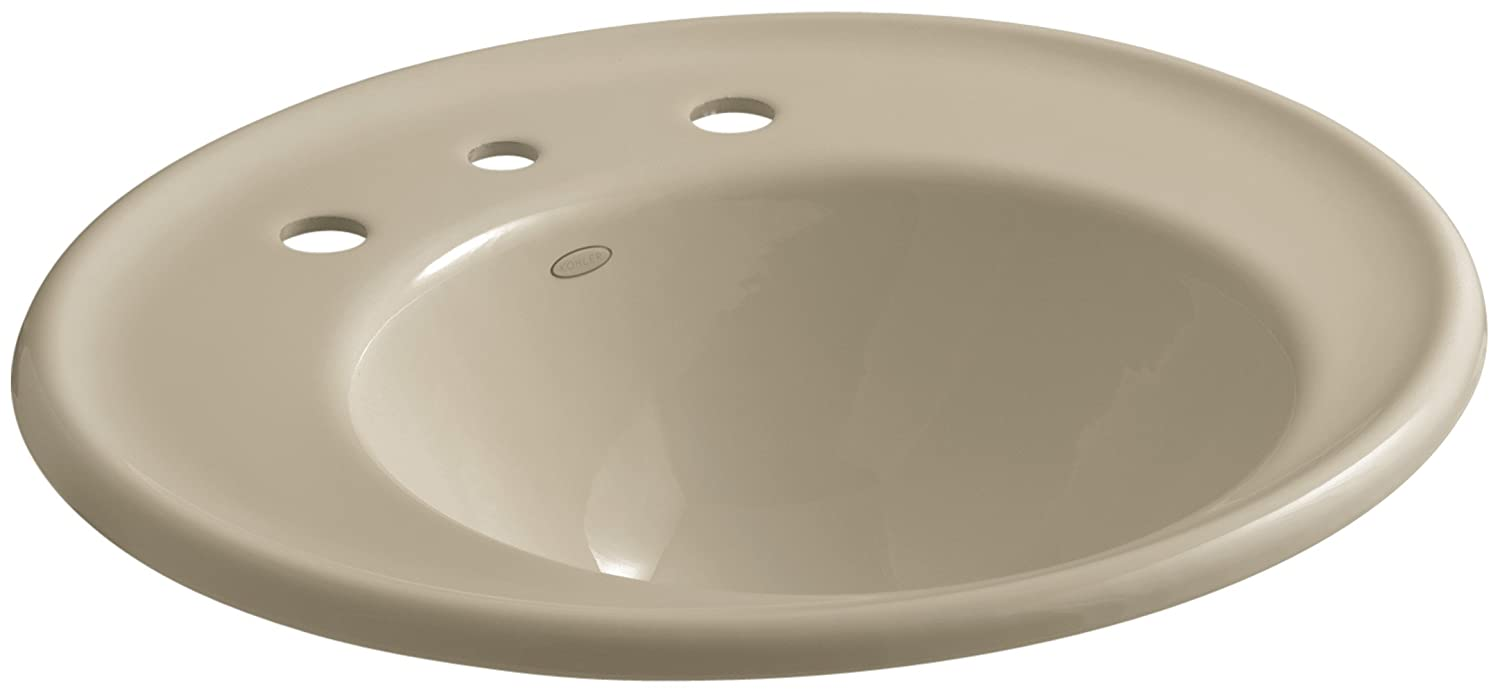 Buy KOHLER K-2822-8W-33 Iron Works Bathroom Sink with White Exterior