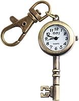 ALIENWOLF Bronze Roto Quartz Pocket Copper Watch Key Ring Chain