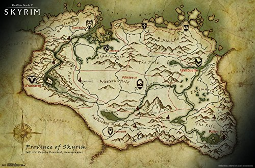 Trends International Elder Scrolls V-Map Premium Wall Poster