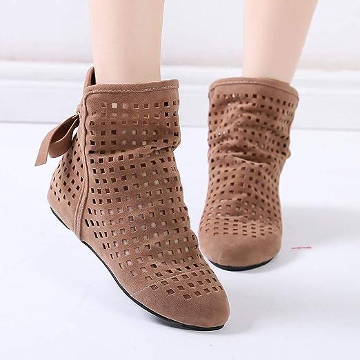 0ce703c347d21 POLPqeD Zapatos Mujer otoño 2018 Botines Mujer de Vestir Planas Botines con Flecos  Otoño Invierno Calzado Bowknot Zapatos Botines Mujer Planos Botines de ...