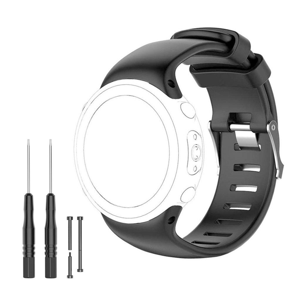 Suunto D4i Strap – Replacement Band for Suunto D4, D4i, D4i Novo Wrist Dive Computer Watch – Fits 5.7''-8.6'' (145mm-220mm) FreeTools,Screw Bar Pins, Loctite