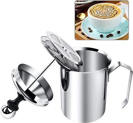 400 ml in acciaio inox cappuccino Montalatte manuale per latte macchiato