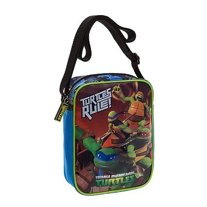 Tortugas Ninja Bolso Bandolera, 1.8 litros, Color Azul ...