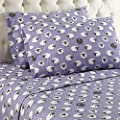 Shavel Home Products Micro Flannel Sheet Set, Polar Bears, Twin