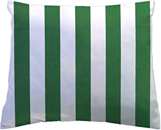 product image for SheetWorld Crib Toddler Pillow Case, 100% Cotton Woven, Forest Green Stripe, 13 x 17, Made in USA