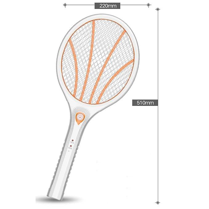 YLLXX Recargable Inicio Luces Led Gran Malla Batería Swatter Mosquito Matamoscas Mosquito Eléctrico Raqueta: Amazon.es: Hogar