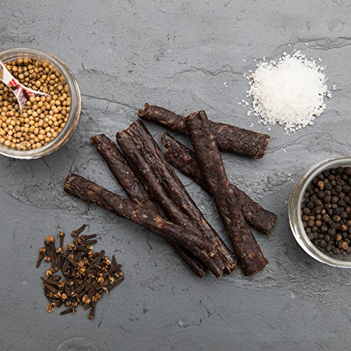 Ayoba-Yo Droewors Beef Sticks. Exceptional Air-Dried Sausages Made With Premium Meat. Gluten, Sugar & Nitrate Free. 4 Ounce