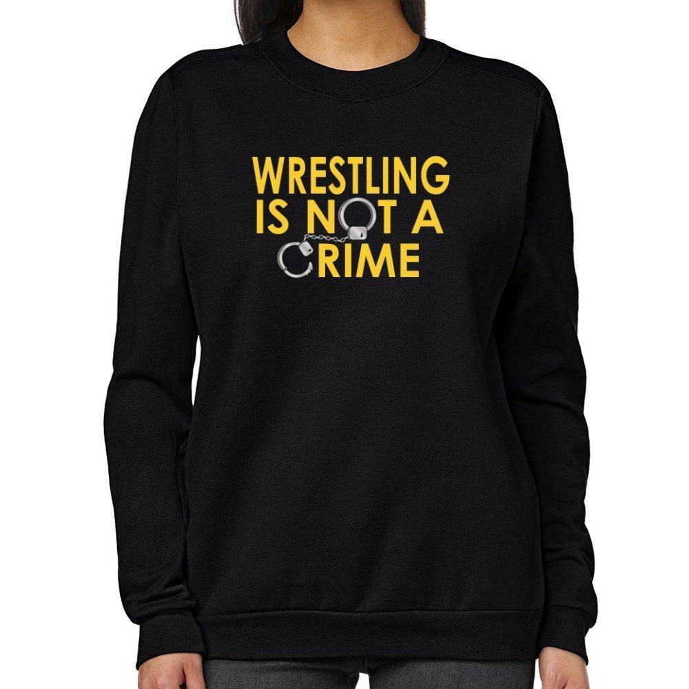 Teeburon Wrestling is not a crime Women Sweatshirt