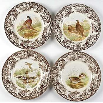Spode Woodland 10.5  Dinner plates Set of 4  sc 1 st  Amazon.com & Amazon.com: Spode Woodland Turkey Dinner Plate: Kitchen u0026 Dining