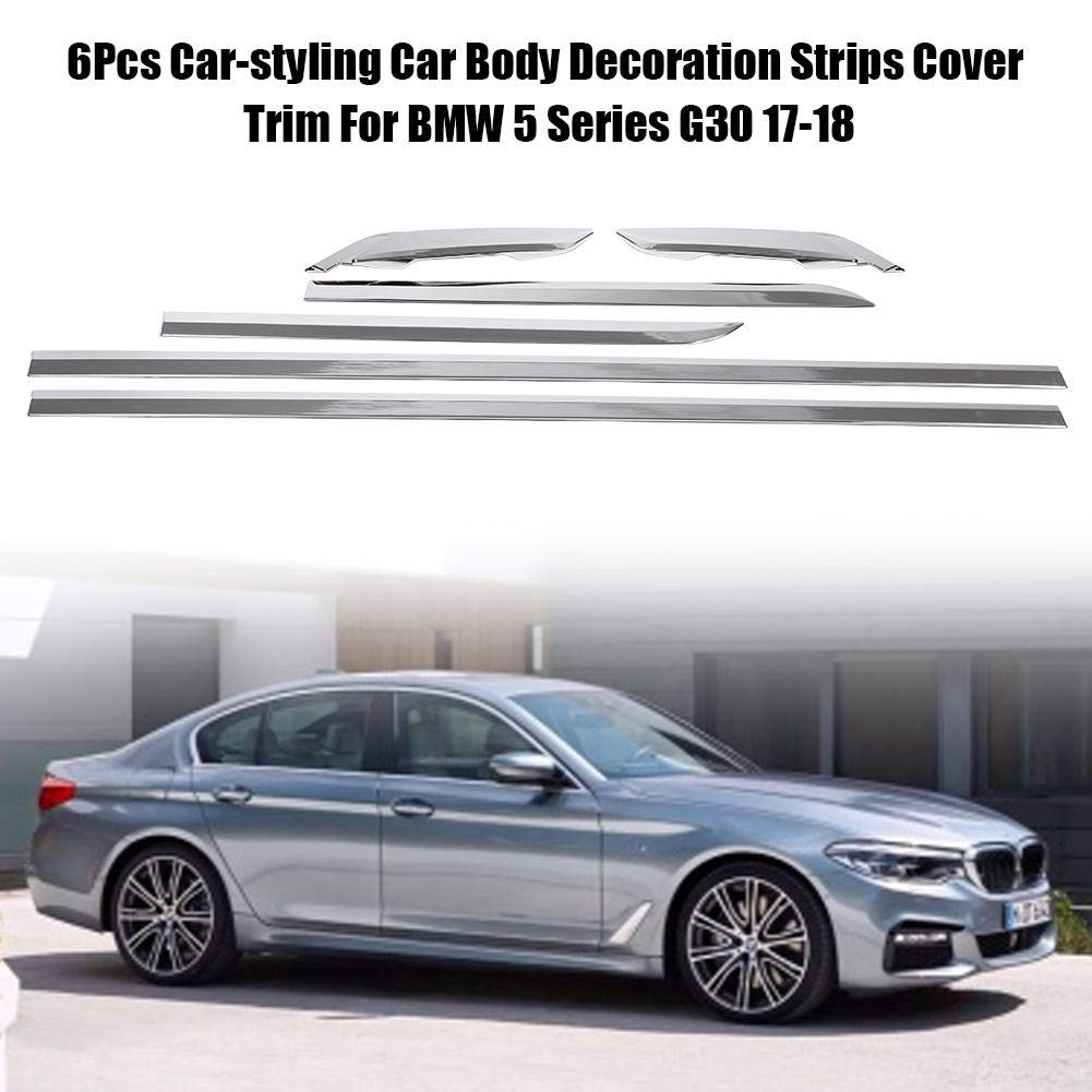 Amazon.com: KIMISS 6Pcs Car-Styling Car Body Decoration Strips Cover Trim For 5 Series G30 17-18(Bright Silver): Automotive